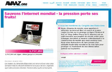 http://www.avaaz.org/fr/save_the_internet_action_center_fr/