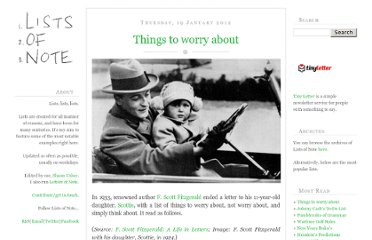 http://www.listsofnote.com/2012/01/things-to-worry-about.html