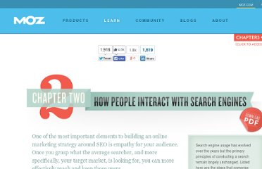 http://www.seomoz.org/beginners-guide-to-seo/how-people-interact-with-search-engines