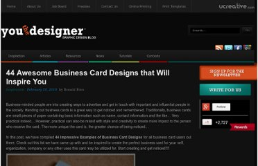 http://www.youthedesigner.com/2010/02/18/44-awesome-business-card-designs-that-will-inspire-you/