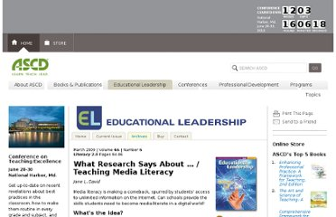 http://www.ascd.org/publications/educational-leadership/mar09/vol66/num06/Teaching-Media-Literacy.aspx