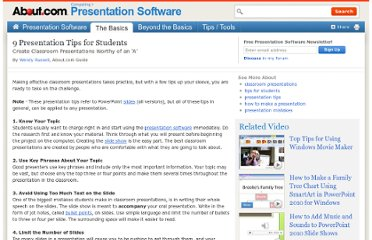 http://presentationsoft.about.com/od/classrooms/tp/student_tips.htm