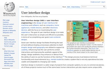 http://en.wikipedia.org/wiki/User_interface_design
