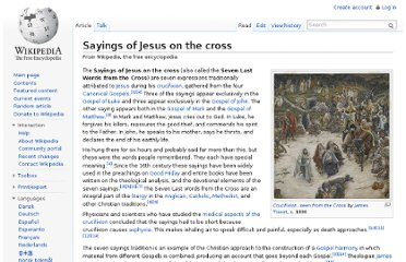http://en.wikipedia.org/wiki/Sayings_of_Jesus_on_the_cross