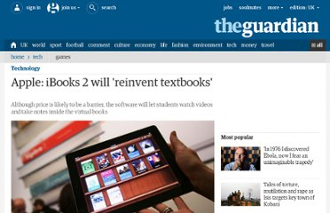 http://www.guardian.co.uk/technology/2012/jan/19/apple-unveils-ibooks-2-textbooks-ipad