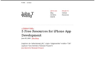 http://johntwang.com/blog/2009/06/09/5-free-resources-for-iphone-app-development/