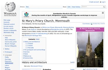 http://en.wikipedia.org/wiki/St_Mary%27s_Priory_Church,_Monmouth
