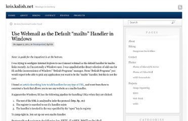 http://kris.kalish.net/2011/08/use-webmail-as-the-default-mailto-handler-in-windows/