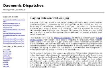 http://www.daemonology.net/blog/2012-01-19-playing-chicken-with-cat-jpg.html
