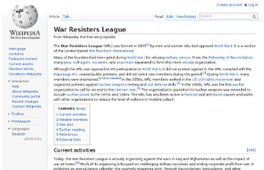 http://en.wikipedia.org/wiki/War_Resisters_League