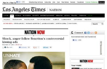 http://latimesblogs.latimes.com/nationnow/2011/11/benetton-kissing-ads-obama.html