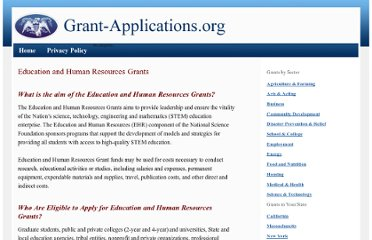 http://www.grant-applications.org/science-technology-grants/education-and-human-resources-grants