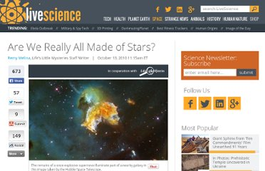 http://www.lifeslittlemysteries.com/864-humans-really-made-stars.html
