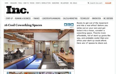 http://www.inc.com/ss/christina-desmarais/16-cool-coworking-spaces.html