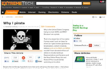 http://www.extremetech.com/computing/114493-why-i-pirate
