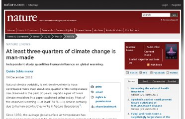 http://www.nature.com/news/at-least-three-quarters-of-climate-change-is-man-made-1.9538