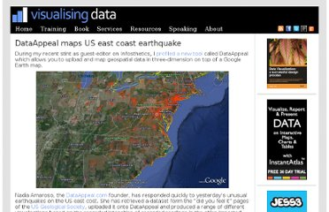 http://www.visualisingdata.com/index.php/2011/08/dataappeal-maps-us-east-coast-earthquake/