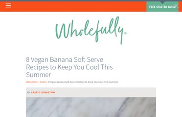 http://backtoherroots.com/2011/07/23/sweet-saturday-banana-soft-serve/