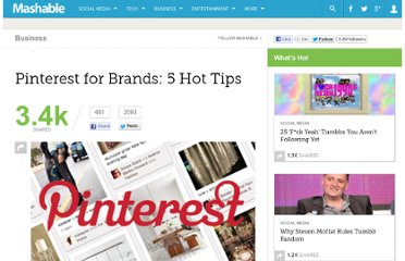 http://mashable.com/2012/01/19/pinterest-brands/