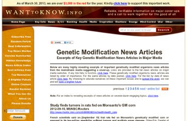 http://www.wanttoknow.info/geneticallymodifiedorganismsnewsarticles