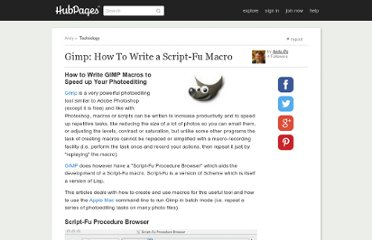 http://www.squidoo.com/gimp-how-to-write-a-script-fu-macro