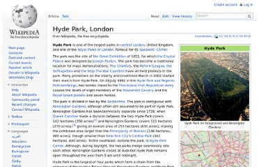 http://en.wikipedia.org/wiki/Hyde_Park,_London