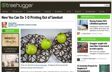 http://www.treehugger.com/sustainable-product-design/now-you-can-do-3-d-printing-out-of-sawdust.html