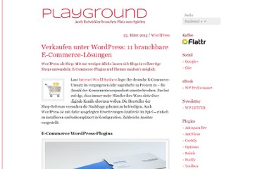http://playground.ebiene.de/wordpress-ecommerce-loesungen/