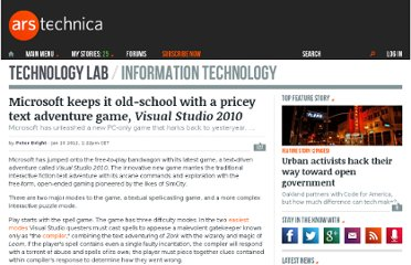 http://arstechnica.com/microsoft/news/2012/01/microsoft-pimps-it-old-school-with-a-pricey-text-adventure-game.ars
