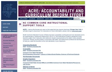 http://www.ncpublicschools.org/acre/standards/common-core-tools/