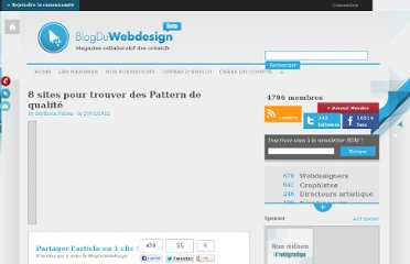 http://www.blogduwebdesign.com/ressource-pattern/8-sites-pour-trouver-des-pattern-de-qualite/614
