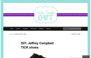http://suzegeeksout.com/2010/06/23/diy-jeffrey-campbell-tick-shoes/