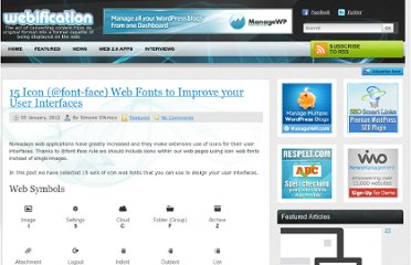 http://webification.com/15-icon-font-face-web-fonts-to-improve-your-user-interfaces