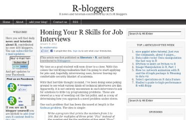 http://www.r-bloggers.com/honing-your-r-skills-for-job-interviews/