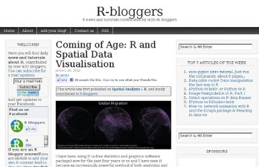 http://www.r-bloggers.com/coming-of-age-r-and-spatial-data-visualisation/