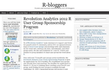 http://www.r-bloggers.com/revolution-analytics-2012-r-user-group-sponsorship-program/