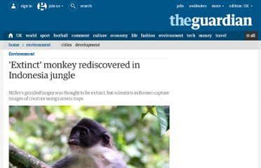 http://www.guardian.co.uk/environment/2012/jan/20/extinct-monkey-rediscovered-indonesia-jungle