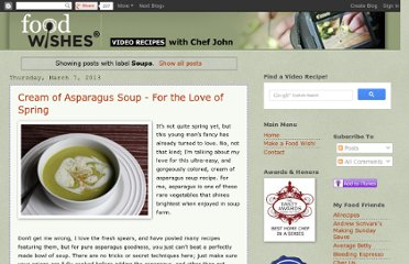 http://foodwishes.blogspot.com/search/label/Soups