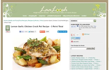 http://www.laaloosh.com/2010/01/06/lemon-garlic-chicken-crock-pot-recipe/