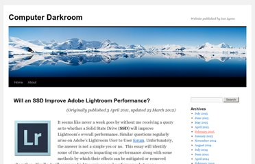 http://www.computer-darkroom.com/blog/will-an-ssd-improve-adobe-lightroom-performance/