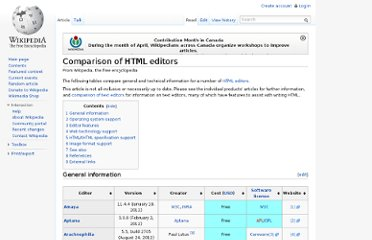http://en.wikipedia.org/wiki/Comparison_of_HTML_editors
