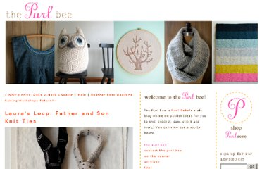 http://www.purlbee.com/the-purl-bee/2012/1/19/lauras-loop-father-and-son-knit-ties.html