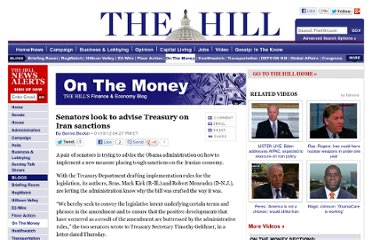 http://thehill.com/blogs/on-the-money/banking-financial-institutions/205201-senators-look-to-advise-treasury-on-iran-sanctions