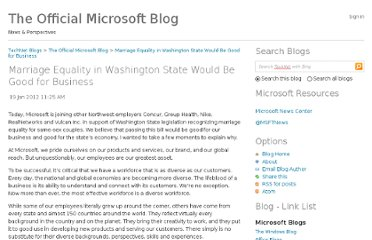 http://blogs.technet.com/b/microsoft_blog/archive/2012/01/19/marriage-equality-in-washington-state-would-be-good-for-business.aspx