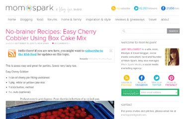 http://momspark.net/no-brainer-recipes-easy-cherry-cobbler/