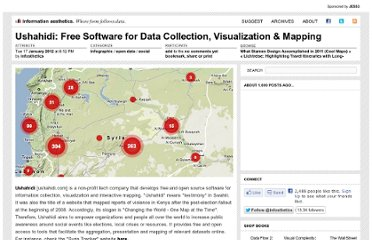 http://infosthetics.com/archives/2012/01/ushahidi_free_software_for_data_collection_visualization_mapping.html