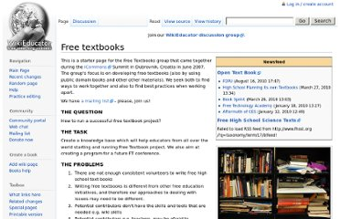 http://wikieducator.org/Free_textbooks