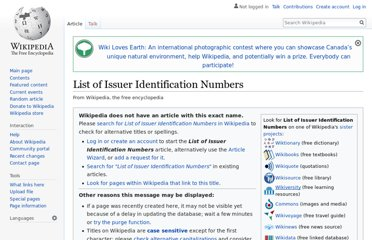 http://en.wikipedia.org/wiki/List_of_Issuer_Identification_Numbers