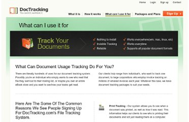 http://doctracking.com/dt.document_tracking_what.htm