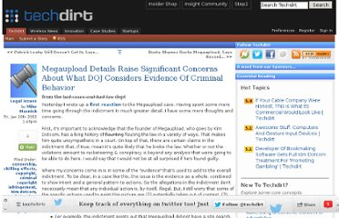 http://www.techdirt.com/articles/20120120/00373617487/megaupload-details-raise-significant-concerns-about-what-doj-considers-evidence-criminal-behavior.shtml